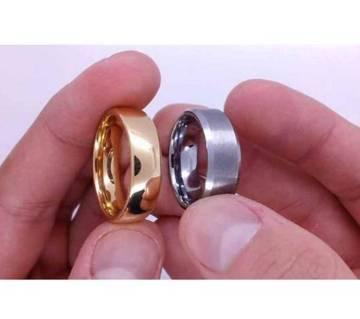 Silver & Golden Finger Ring for Couple