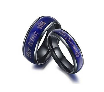 KING AND QUEEN TITANIUM COUPLE RING