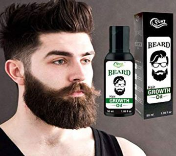 Quat Beard Hair Growth Oil For Men - 50ml,India
