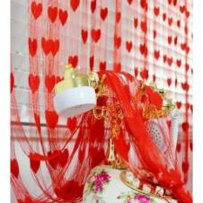 Heart Designed net Curtain- 2pcs