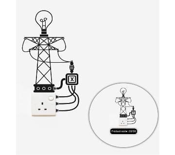 Save Energy Switch & Socket Vinyl decals রিমুভেবল স্টিকার