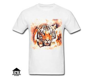 Tiger Menz Half Sleeve Cotton T-shirt