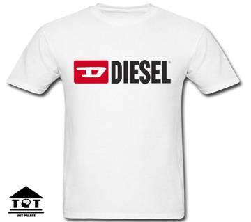 Disel Half Sleeve Cotton T-Shirt White copy