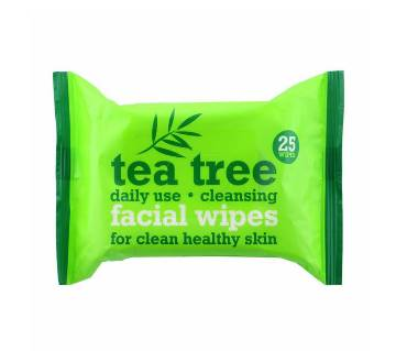 Tea Tree Cleansing Facial Wipes- 25 Wipes