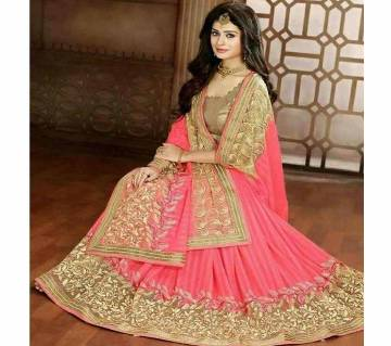 Indian Soft Georgette Embroidery Sharee - Copy