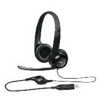Logitech H390 Stereo Headset Black