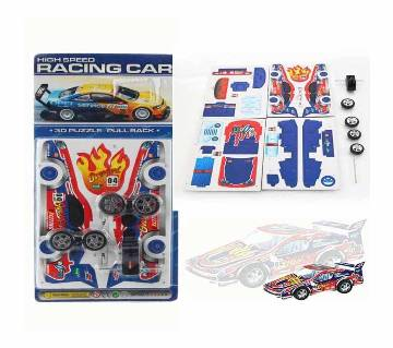 3D Puzzle Pullback HighSpeed Racing Car 2506