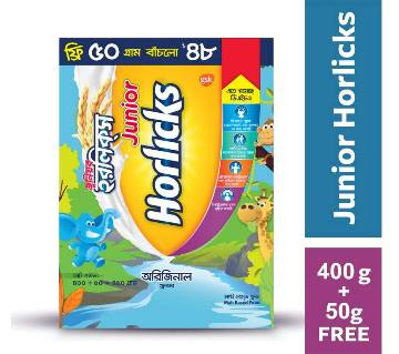 Junior Horlicks 400 gm BIB with 50gm free - BD
