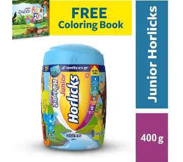Junior Horlicks 400gm Jar with FREE Colouring Book