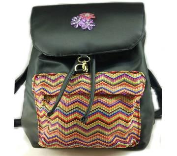 Ladies Black College Backpack