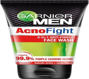 GARNIER MEN ACNO FIGHT ANTI-PIMPLE FACE WASH 100g (India).