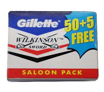 Gillette Wilkinson Sword Stainless Steel Blade Saloon Pack (India).