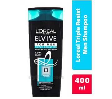 Loreal ELVIVE TRIPLE RESIST শ্যাম্পু  FOR MAN 400ml UK