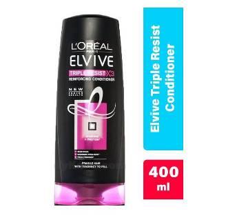 LOREAL ELVIVE TRIPLE RESIST কন্ডিশনার 400ml UK