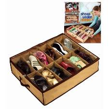 Under space shoe organizer