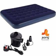 Single air bed with pumper