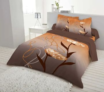 Double Size 7.5×8 Feet Cotton Bed Sheet & Pillow Cover Set - Multi Color
