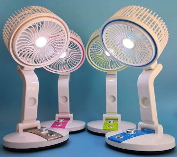Rechargeable led light & fan (1 PCs)