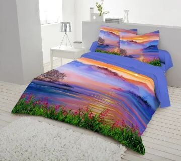 Printed Cotton Double Size Bed Sheet Set