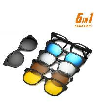 6 in 1 Magnetic Sunglass