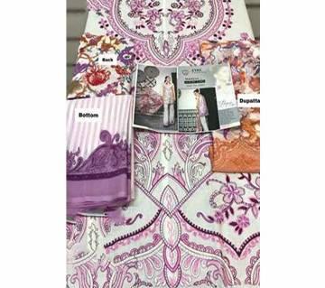 Cyra Fashion Mahgul Vol 1 Luxury Lawn - 10003 - Light Ash - ASI
