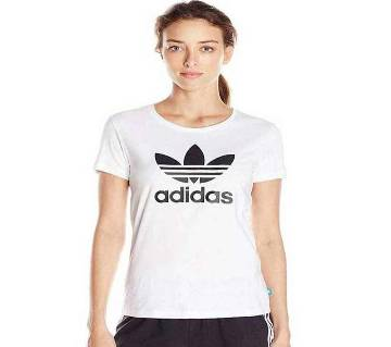 Half Sleeve Cotton Ladies T Shirt