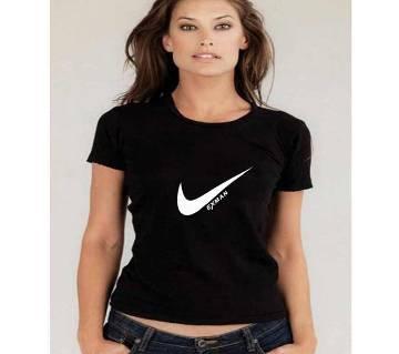 Half Sleeve Cotton Ladies T Shirt