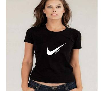 NIKE-Girls Half Sleeve Cotton T-Shirt