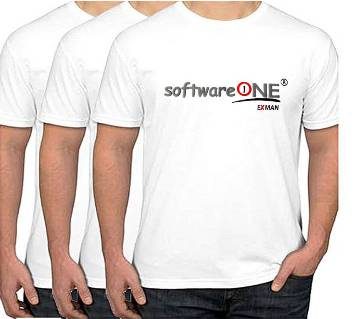 Software ONE-Gents Half sleeve cotton t-shirt