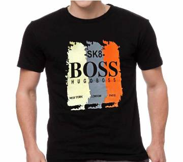 Gents Half Sleeve Cotton BOSS T-Shirt