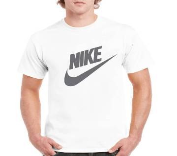 Gents Half Sleeve Cotton Nike T-Shirt