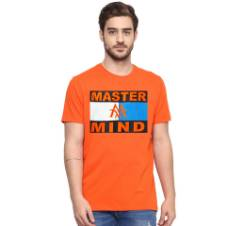 Gents Half Sleeve Cotton MASTER MIND T-Shirt