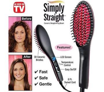 Ceramic Hair Straightener - Black and Red