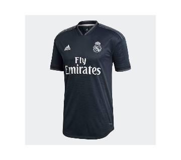 Real Madrid Away Kit 2018-19 Black হাফ স্লিভ জার্সি (কপি)