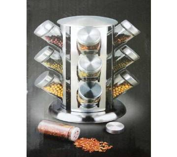 12 jar tower rotating spice rack