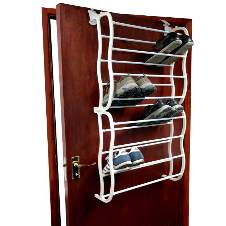 Portable Lightweight 24 Pair Over Door Shoe Rack Footwear Storage Stand Trainers
