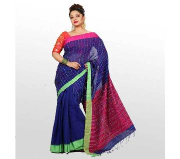Cotton Saree With Butics Word 13 Haat With Blouse