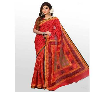 Cotton Saree With Special Block Printed  13 Hat With Blouse
