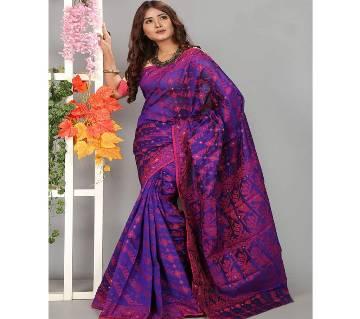 Silk Jamdani Full Body Works Colorful 13 Haat Saree