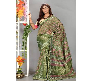 Tishu Silk Saree Full Body Works 13 Haat With Blouse