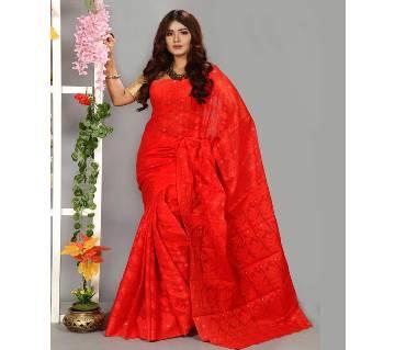 Jamdani Silk Saree Full Body Works 13 Haat With Blouse