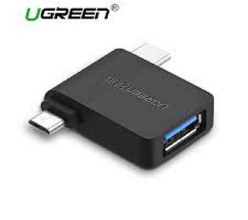 UGREEN Micro USB+ USB-C to USB 3.0 এডাপটার