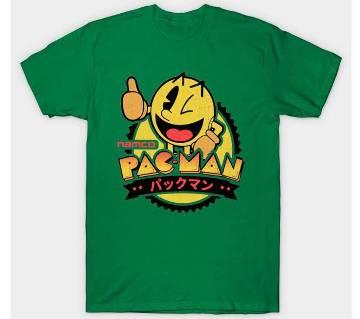 Mens Pac Man Cotton Round Neck  t-shirt