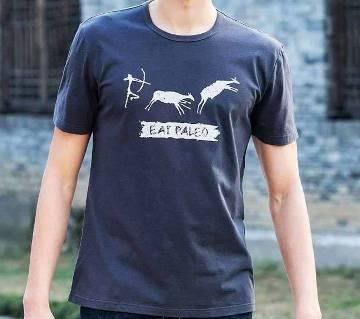 Mens Buffelo Cotton Round Neck  t-shirt