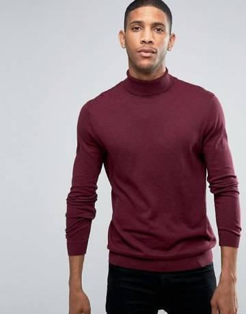 High neck sweater for men