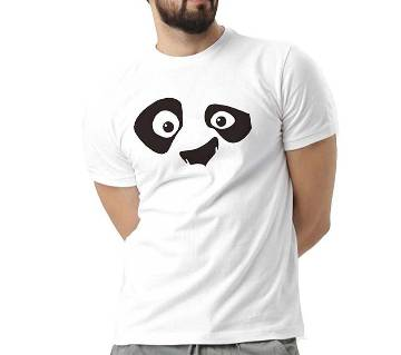 Mens Owl Cotton Round Neck  t-shirt