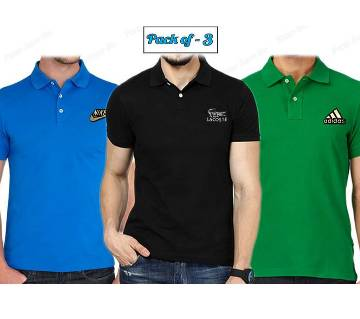 Men's Casual Polo-Shirt Combo Pack 3 pcs