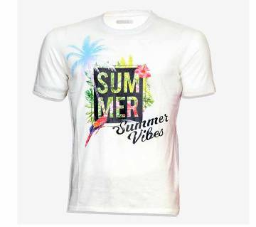 Summer Vibes Cotton half sleeve t-shirt for men