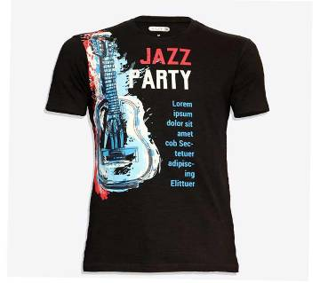 Jazz party Cotton half sleeve t-shirt for men