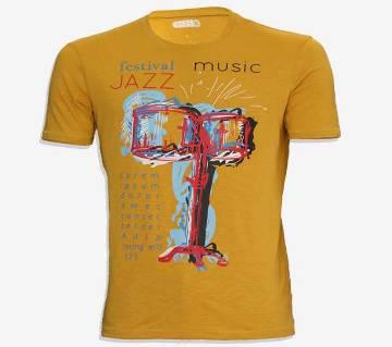 festival jazz Cotton half sleeve t-shirt for men